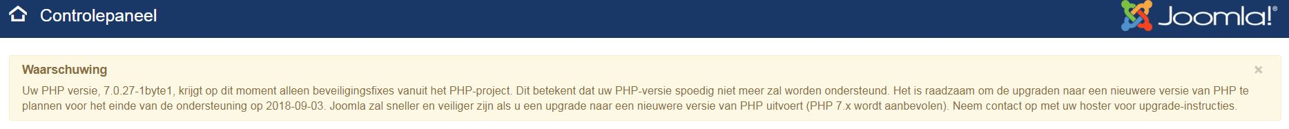 waarschuwing PHP